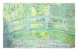 Estanque de nenúfares con puente japonés, 1899 Alfombrilla por Claude Monet