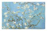 Ramas de almendros en flor, Saint Rémy, c.1890 Alfombrilla por Vincent van Gogh
