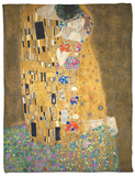 The Kiss, c.1907 Fleece Blanket by Gustav Klimt