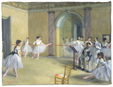 The Dance Foyer at the Opera on the Rue Le Peletier, 1872 Fleece Blanket by Edgar Degas