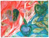 Apples I Fleece Blanket by Danielle Harrington