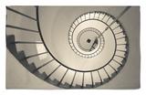 La Paloma, Atlantic Ocean Resort Town, Cabo Santa Maria Lighthouse, Interior Stairs, Uruguay Rug by Walter Bibikow