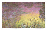 Waterlilies at Sunset, 1915-26 Rug by Claude Monet