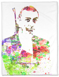Sean Connery Fleece Blanket by  NaxArt