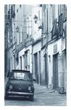Fiat Driving in Narrow Street, Sassari, Sardinia, Italy Rug by Doug Pearson