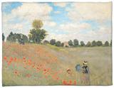 Amapolas silvestres cerca de Argenteuil (Les Coquelicots: Environs D'Argenteuil), 1873 Fleece Blanket por Claude Monet