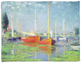 Argenteuil, circa 1872-5 Fleece Blanket by Claude Monet