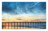 Sunset Beach Pier at Sunrise, North Carolina, USA Alfombrilla