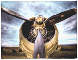 1945: Single Engine Plane Fleece Blanket by Stephen Arens
