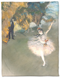 The Star, or Dancer on the Stage, circa 1876-77 Fleece Blanket by Edgar Degas