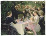 Hip Hip Hurrah! Artists' Party at Skagen, 1888 Fleece Blanket by Peder Severin Kröyer