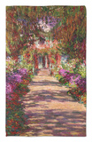 A Pathway in Monet's Garden, Giverny, 1902 Rug by Claude Monet