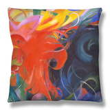Fighting Shapes, 1914 Throw Pillow by Franz Marc