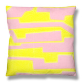 Modern Circuit II Throw Pillow by Charles McMullen