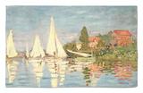 Regatta at Argenteuil, C.1872 Rug by Claude Monet
