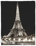 Eiffel Tower - Bateau mouche vedette de Paris - France Fleece Blanket by Philippe Hugonnard