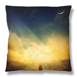 Echo of a Sigh Throw Pillow by Philippe Sainte-Laudy