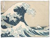 "The Great Wave Off Kanagawa, from the Series ""36 Views of Mt. Fuji"" (""Fugaku Sanjuokkei"") Fleece Blanket by Katsushika Hokusai"