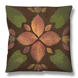 Kaleidoscope Leaves III Throw Pillow by  Vision Studio