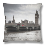 Big Ben, Houses of Parliament and Westminster Bridge, London, England, Uk Throw Pillow by Jon Arnold