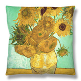 Sunflowers, c.1888 Throw Pillow by Vincent van Gogh