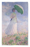 Woman with a Parasol Turned to the Right, 1886 Rug by Claude Monet