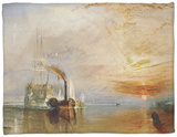 The Temeraire Towed to Her Last Berth (AKA The Fighting Temraire) Fleece Blanket by J. M. W. Turner