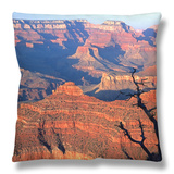 Grand Canyon from South Rim Near Yavapai Point, Grand Canyon National Park, Arizona Throw Pillow by David Tomlinson
