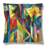 Stables (Stallungen), 1913 Throw Pillow by Franz Marc