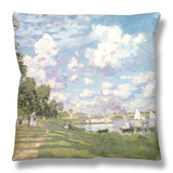 The Marina at Argenteuil, 1872 Throw Pillow by Claude Monet