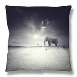 Walk with Me Throw Pillow by Luis Beltran