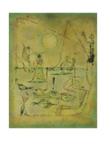 They're Biting Giclee Print by Paul Klee