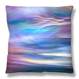 Evening Ferry Ride Throw Pillow by Ursula Abresch