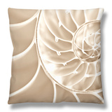 White Swirls Throw Pillow by Doug Chinnery