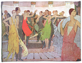 "Paris by Night, a Dance Club in Montmartre, from ""L'Amour Et L'Esprit Gaulois"" Fleece Blanket by Manuel Orazi"