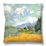 Wheatfield with Cypresses, 1889 Throw Pillow by Vincent van Gogh