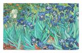 Lirios, 1889 Alfombrilla por Vincent van Gogh