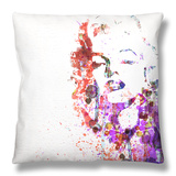 Marilyn Monroe Throw Pillow by  NaxArt