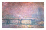 The Thames at Charing Cross, 1903 Rug by Claude Monet