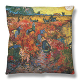 The Red Vineyard at Arles, c.1888 Throw Pillow by Vincent van Gogh