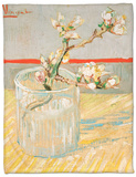 Blossoming Almond Branch in a Glass, c.1888 Fleece Blanket by Vincent van Gogh