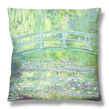 The Waterlily Pond with the Japanese Bridge, 1899 Throw Pillow by Claude Monet