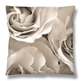 Three White Roses Throw Pillow by Robert Cattan