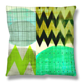 Chevron Geometry II Throw Pillow by Amy Lighthall