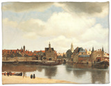 View of Delft, about 1660 Fleece Blanket by Jan Vermeer
