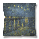 Starry Night over the Rhone, c.1888 Throw Pillow by Vincent van Gogh