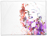 Marilyn Monroe Fleece Blanket by  NaxArt