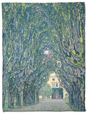 Tree-Lined Road Leading to the Manor House at Kammer, Upper Austria, 1912 Fleece Blanket by Gustav Klimt