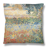 Garden in Bloom, Arles, c.1888 Throw Pillow by Vincent van Gogh