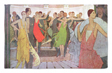 "Paris by Night, a Dance Club in Montmartre, from ""L'Amour Et L'Esprit Gaulois"" Rug by Manuel Orazi"